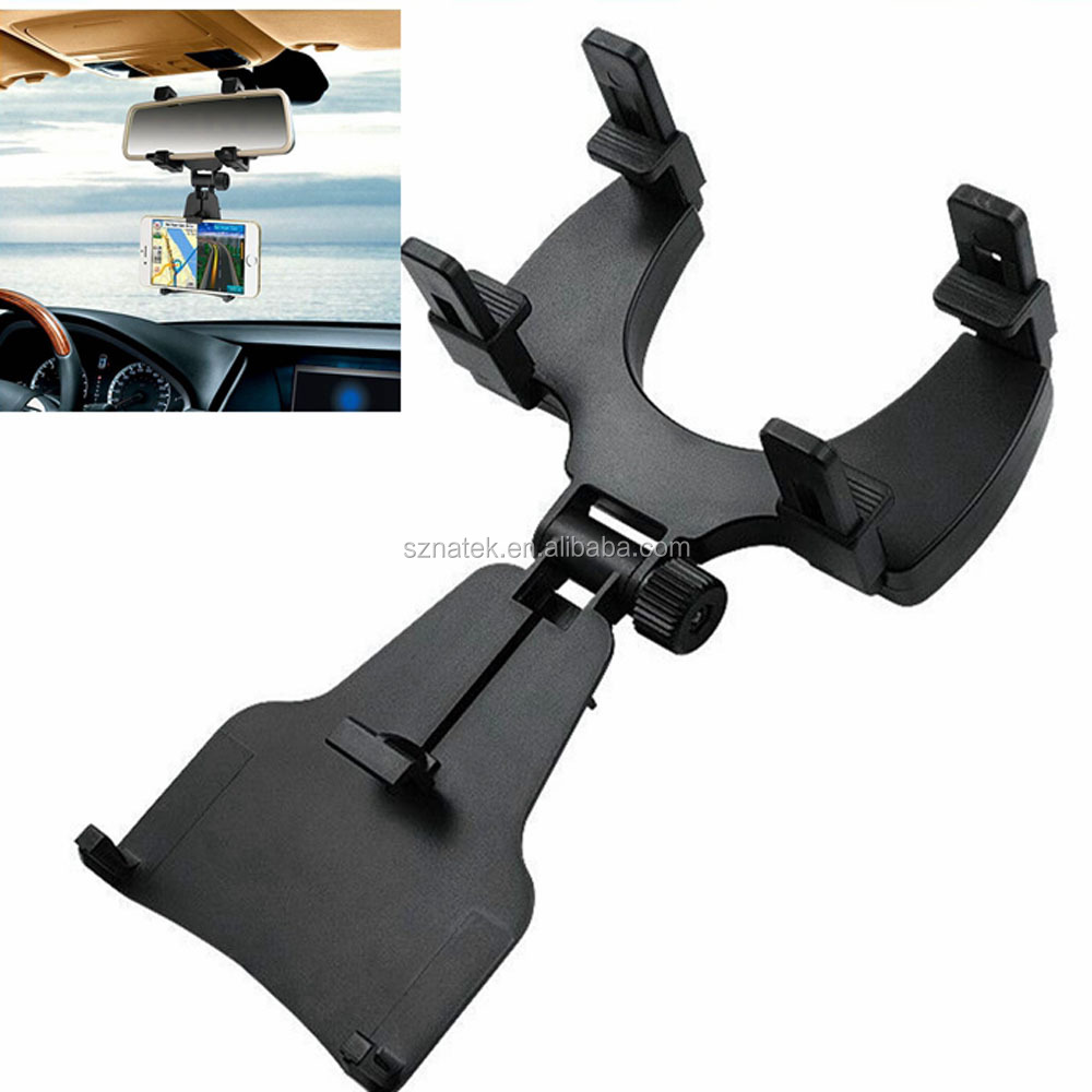 Universal Car Rearview Mirror Mount Truck Auto Bracket Holder Cradle for GPS Android Smartphone IOS