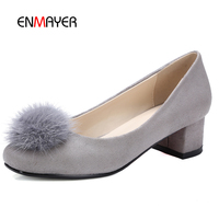 Elegant women spring autumn causual shoes low chunky heel ballet shoes all matching suede causal shoes