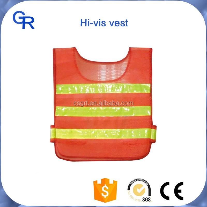 waterproof hi vis led reflective safety vest for road safety