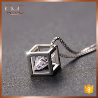 Love hollow cubic magic pendant Jewelry, 925 sterling silver Pendant Necklace