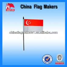 Custom Plastic Or Wooden Stick Flag With Tip On Top