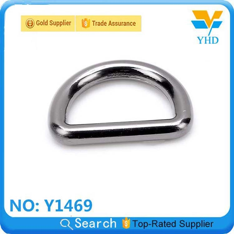 YHD fashion metal spring ring black d ring for handbag purses