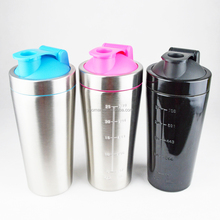 new products 25OZ single wall 18/8 stainless steel protein shaker bottle with PP lid