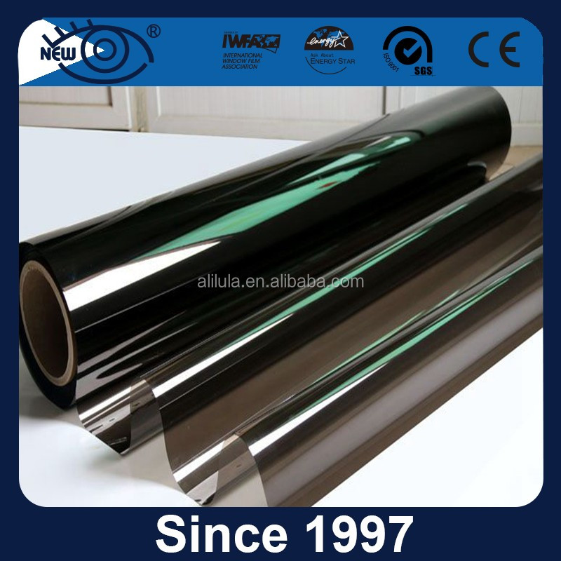 Anti-glare 2ply solar control car dyed window film