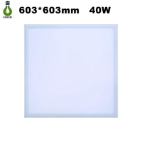 36W 48W 6000-6500K Square led lamp 600X600mm White Frame Recessed Led Ceiling Panel Light