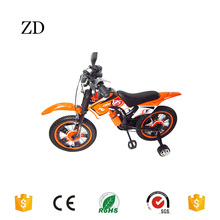 Hebei Zandi factory hot sale moto children bicycle 12 16 orange blue red popular ride on motorcycle bike for kids