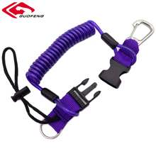 New Arrival 5.0mm PU coated Coil Security Spring Spiral Fishing Lanyard With Reef Hooks
