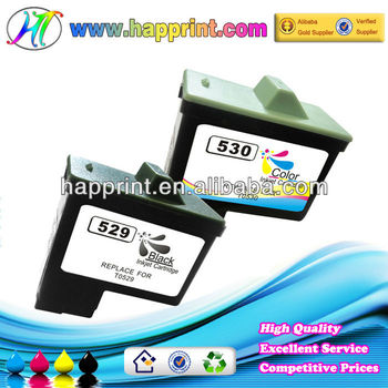 Refillalbe rechargeable inkjet cartridges for Dell printer ink cartridge for Dell T0529 T0530