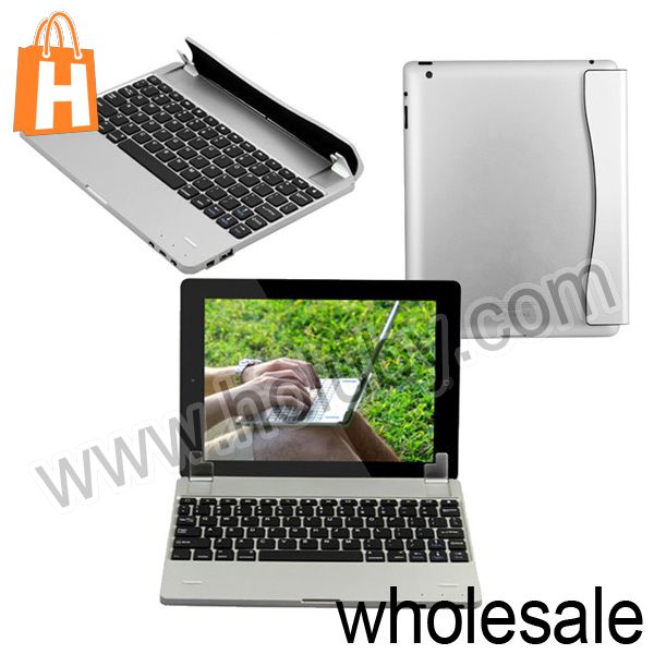 Magnetic Sucker Wireless Bluetooth Keyboard for New iPad/iPad 2/iPad 4/iPad Mini with Bracket