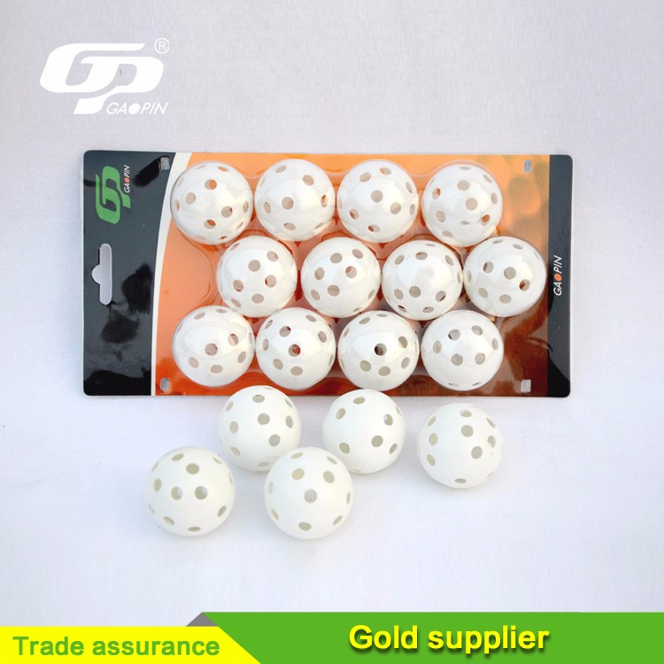 Factory Sell Golf Balls Practice Golf Balls Plastic Golf Balls With Hole
