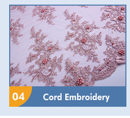 New Design - cord embroidery fabric
