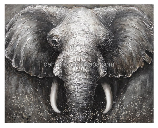 Modern Abstract hand made elephant painting
