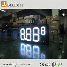 outdoor led clock time date temperature sign/ led gas station display/ digital wall led countdown timer