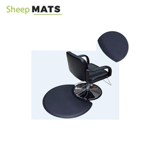 Black Barber Chair Floor Mat , Anti Fatigue Barber Floor Mat