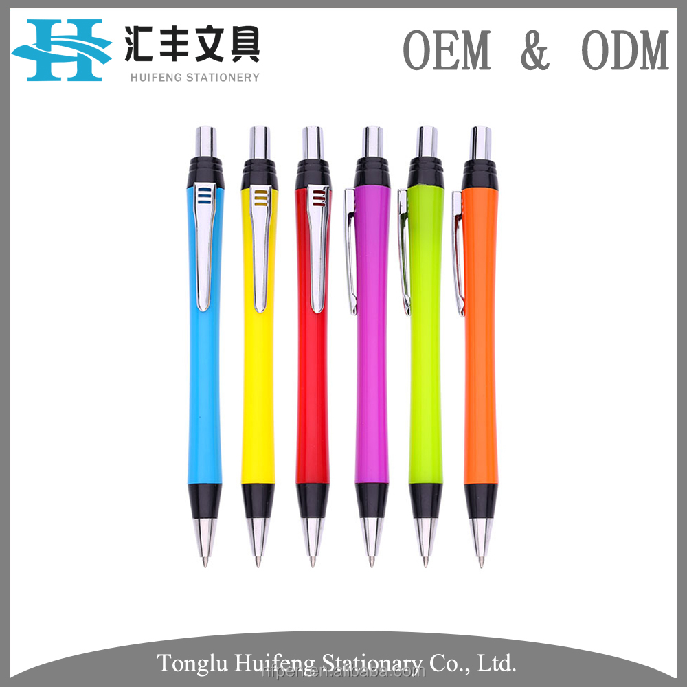 HF5234A bulk plastic office ball point pen with custom specifications
