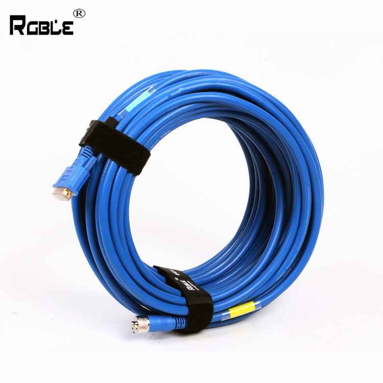 Very competitive price blue DVI through tube adapter cable <strong>copper</strong>