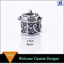 Most popular products custome antique silver wish prayer box pendant charm for necklace