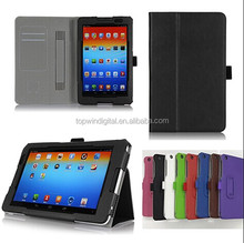 Smart Stand Flip Leather Case For Lenovo A5500 With Handstrap & Card Holder