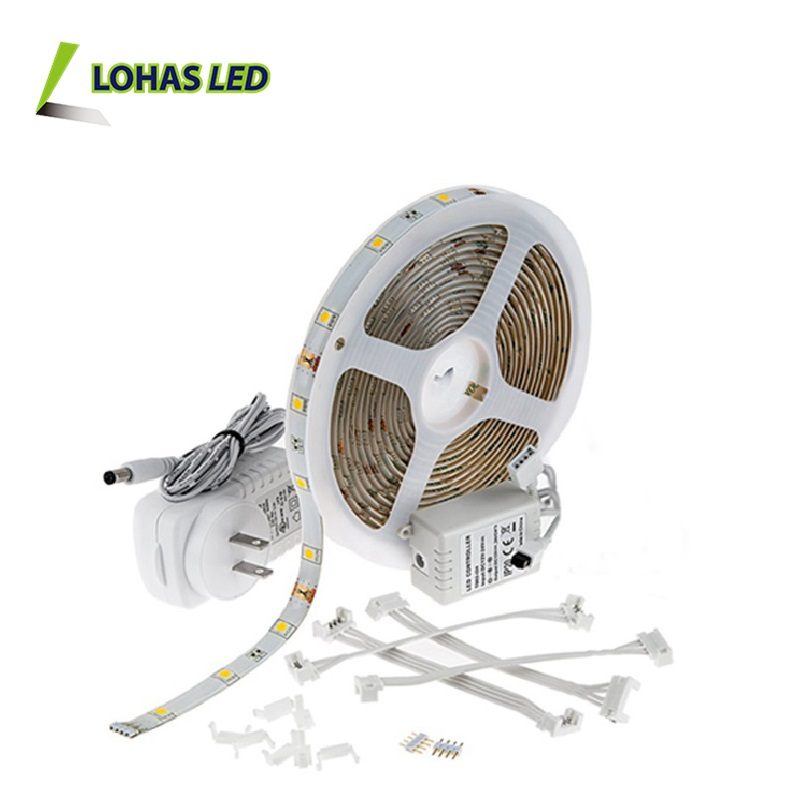 12V Flexible LED Strip Light smd5050 60leds/meter RGB IC Remote Control Kit Set Blister Packing led strip light 220v