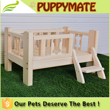 pet accessories durable fashion wooden raised dog bed / dog beds