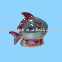 fish ceramic storage jar