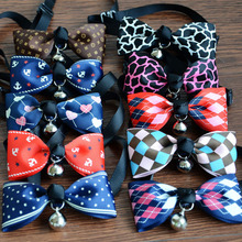 Popular Dinner Party Gentleman Dog Bow Ties , Wedding Bow Ties For Dog Variety Designs