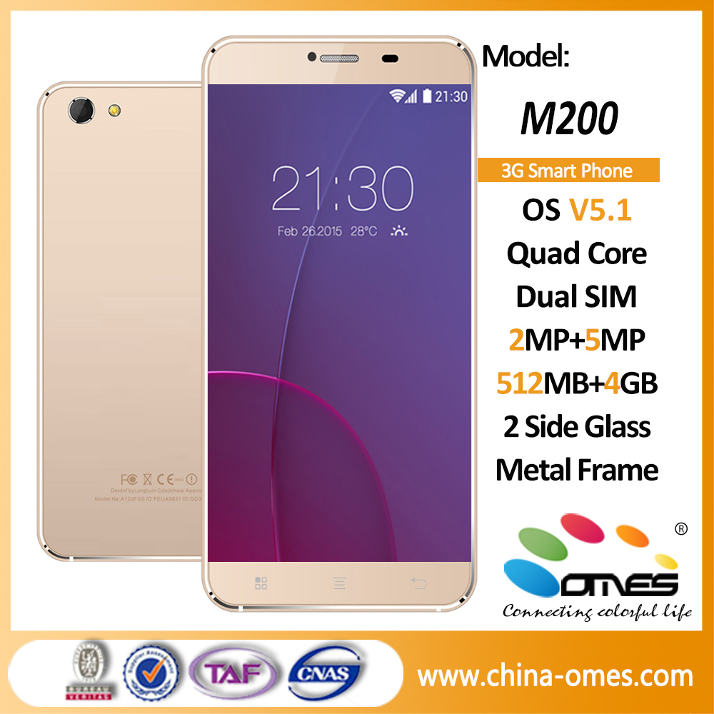 OMES M200 5.5 inch Quad Core 3G android 5.1 mobile phone without camera