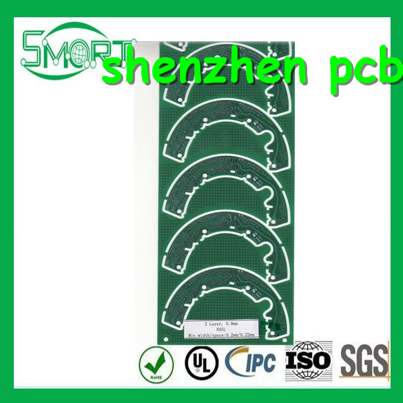 Smart Bes ! high quality ! printed circuit board machine with 0.05mm Minimum Trace Width, Gold Plating and Green LPISM