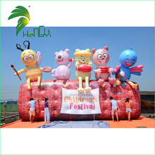 Custom Made Plastic PVC Inflatable Animal Cartoon Model, Giant Inflatable Backdrop For Festival Decoration