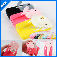 2014 new design silicone mobile phone case for iphone5(OBS-M4053)