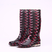 Transparent bright PVC rain boots, Ladies rain boots, women rain boots