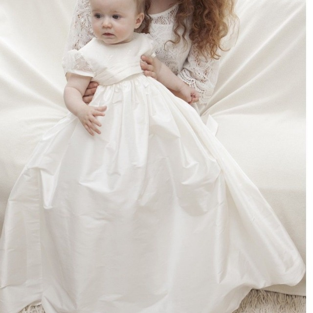 2017 Fashion Newborn Gown Lace Princess 1st Birthday Outfits Infant Festival Party Dress Baptism Baby Girl Christening Dresses