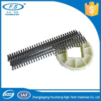 Machine plastic chain and sprocket