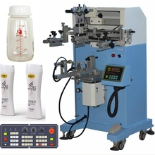 High quality flat and cylinder nail polish bottle screen serigraph printing machine dongguan LC-PA-300E