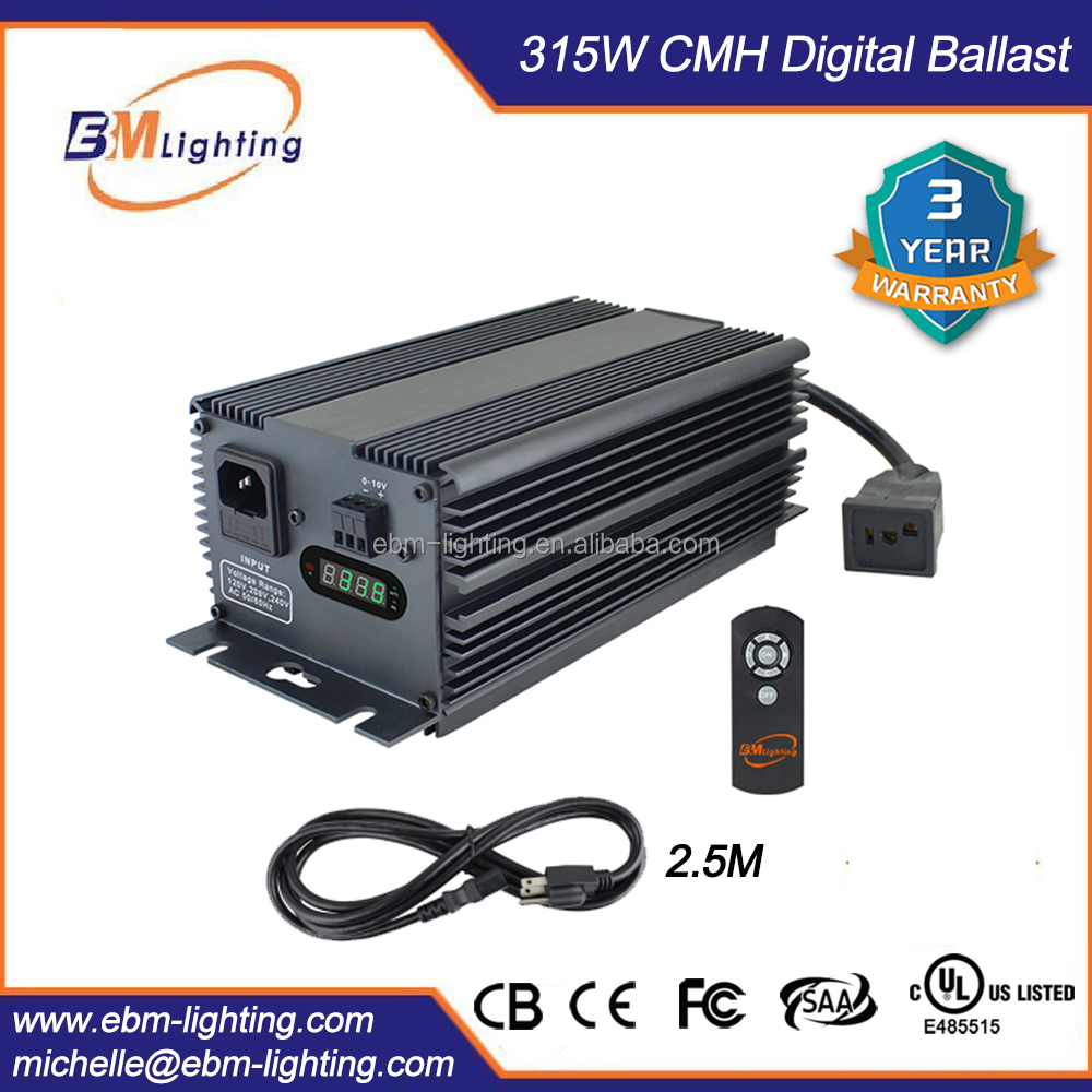 Guangzhou Supplier 315W CMH Hydroponics Ballast for Greenhouse Lighting