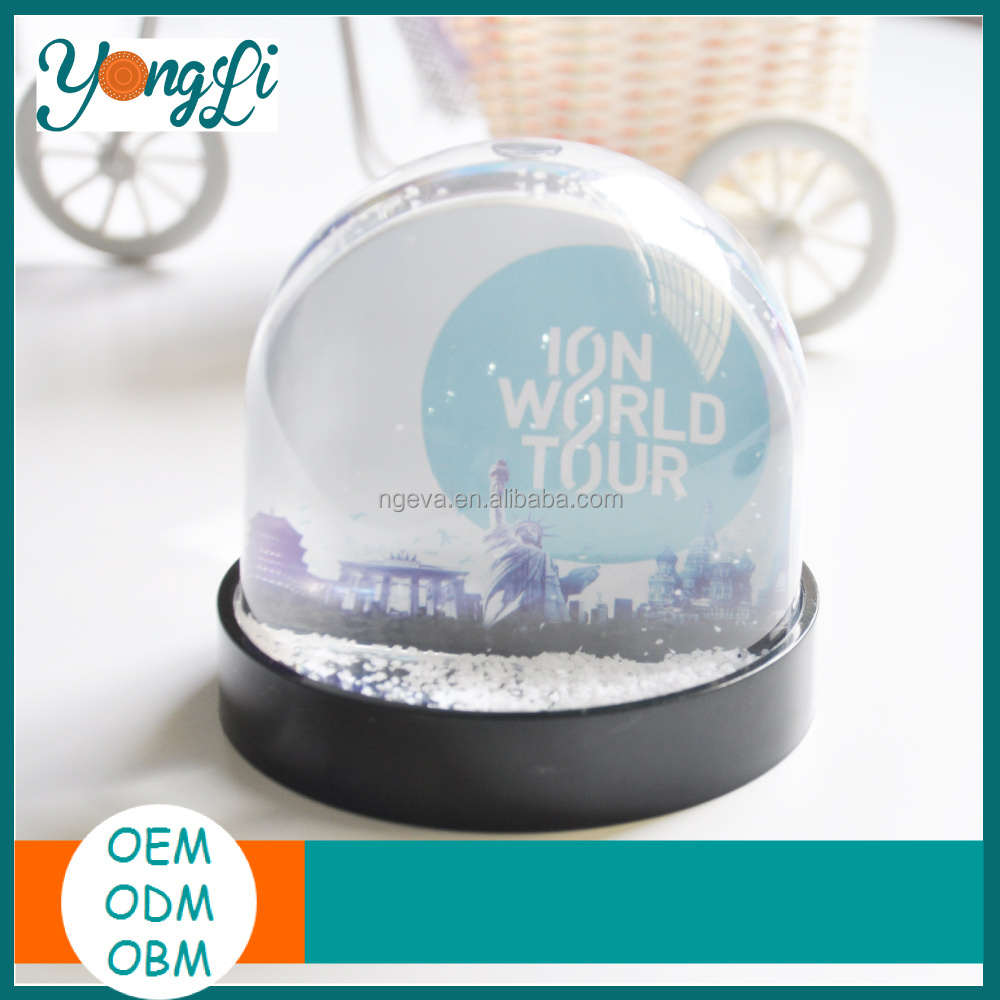 Wholesale Holiday Gift for Plastic Snow Globe with Photo Insert