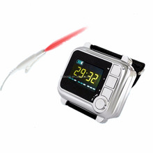 Silver & Black 8 lasers 650nm wrist cold laser therapy equipment for hypertension and rhinitis