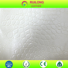 stone pattern flocking pu PVC leather for making shoe
