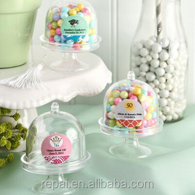 Mini cake pedestals with dome
