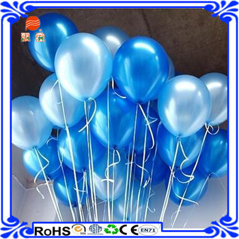 Custom Factory Wholesale Blue Helium Latex free Balloon for Birthday