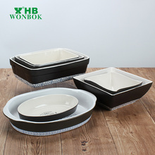Chaozhou microwave safe customized various shape porcelain ovenware