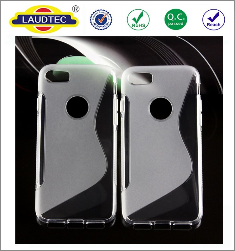 S line slim soft shockproof back cover tpu Gel mobile phone case for Iphone 7