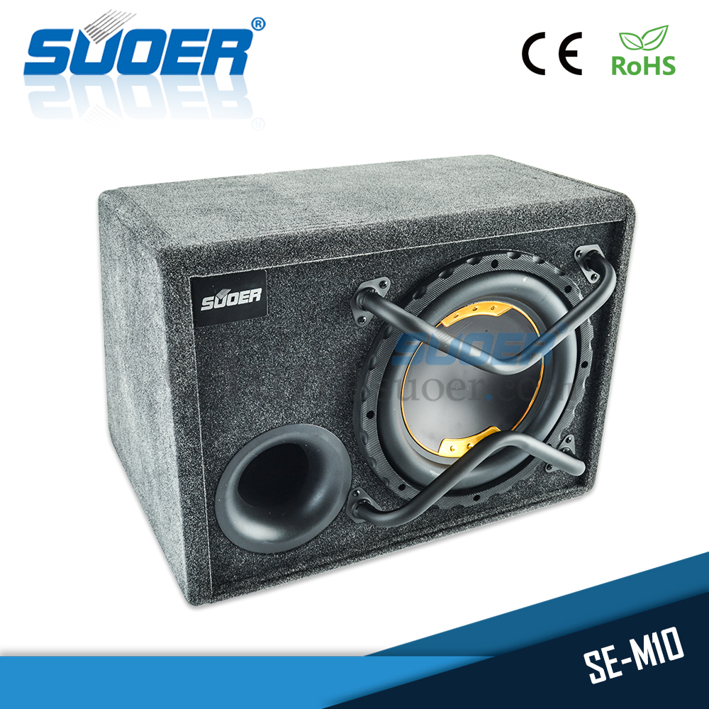 Suoer High quality 12V 10 inch car bass box amplifier speaker car audio subwoofer