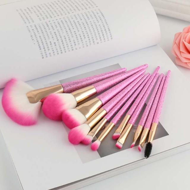 Hot Sale Custom Logo 11 Pieces Luxury Cherry Blossoms Pink Hair Makeup Brush Set