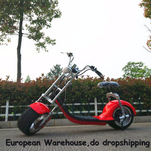 European Warehouse hot products Promotion scrooser 2 Wheels Electric Motorcycle, citycoco style scooter 2000W 60V 20AH.