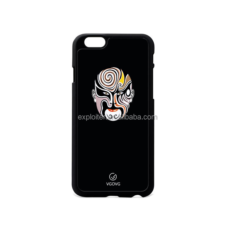 Shenzhen Newest Anti gravity Selfie PC Phone Case Peking Opera Mask Cell Phone Case for iphone 6 for iphone 7 plus