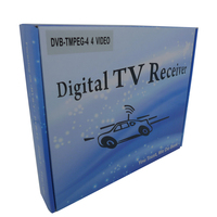 Low price HD Car DVB-T MPEG-4 digital tv receive tuner with 2 antenna