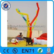 Customized advertisement inflatable colorful dancer with digital printing