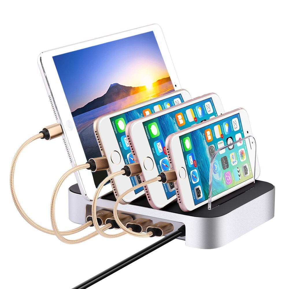 wall charger desktop rapid charging station 60W 6 port usb charger