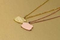 rose gold plated Fashion new models titanium simple pendant necklace